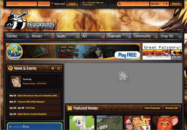 Newgrounds is an American entertainment and social media website.