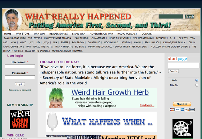 9/11 conspiracy theory news site