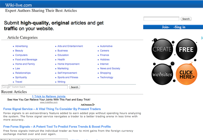 Online Article directory