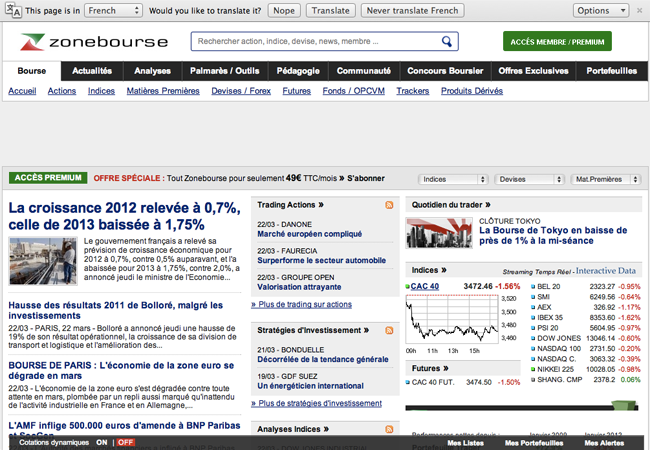 French economics and financial news site